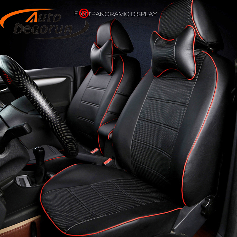 AutoDecorun Custom seat cushion for Hyundai Equus seat covers accessoires PU leather seats cover for car seat supports 17pcs/set