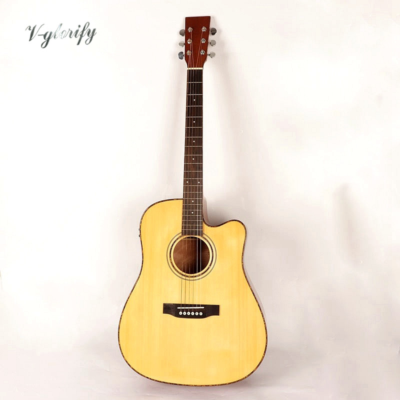 high gloss 41inch full Celluloid binding electro acoustic guitarhigh gloss 41inch full Celluloid binding electro acoustic guitar