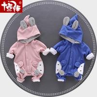 Baby Boy Rompers Newborn Girls Boys Clothing Cute Cartoon Design Autumn Baby Jumpsuit Long Sleeve Hoodie