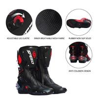 PRO BIKER SPEED BIKERS Motorcycle Boots Moto Racing Motocross Off Road Motorbike Shoes Black/White Size 40/41/42/43/44