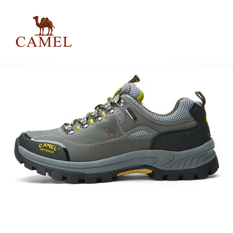 Camel high quality genuine leather hiking shoes sport shoes men 2018 outdoor climbing shoes men & women slip low A432330115 camel shoes 2016 women outdoor running shoes new design sport shoes a61397620