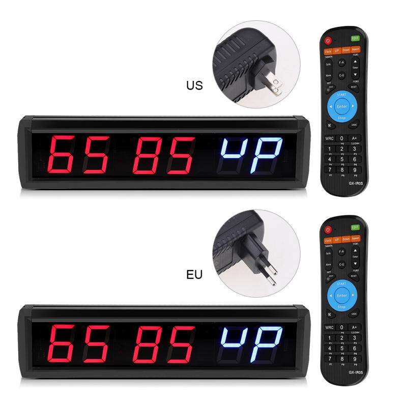2 3 LED Digital Clock Multi function Programmable Clocks Interval Timer Big Stopwatch Home Gym Fitness