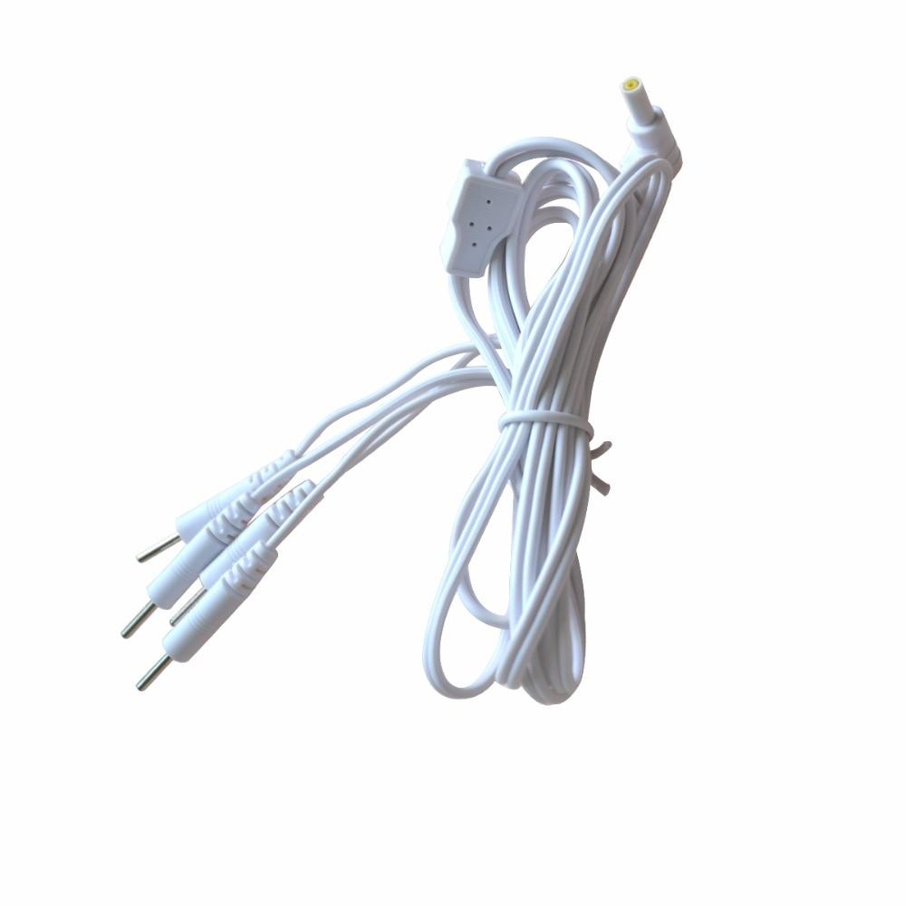 20Pcs Pin 2,35mm 4 in 1 Kopf Elektrode Kabel Linie Stecker Draht digital Tens Akupunktur Therapie Maschine Nadel behandlung Draht