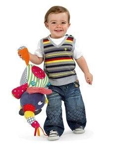 Image 5 - Giocattoli del bambino 0 6 12 Mesi Elefante di Peluche Giocattoli Educativi per il Bambino Ragazzi 1 Anno per Appendere in Letto Passeggino
