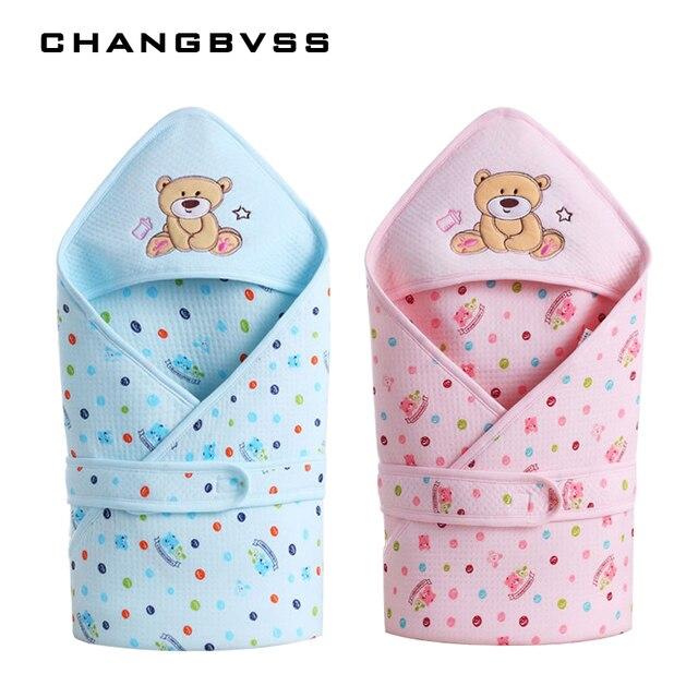 Зима-осень хлопок младенческой ребенок спальный мешок конверт для новорожденных Пеленальные принадлежности Обёрточная бумага sleepsack мультфильм детское одеяло пеленание