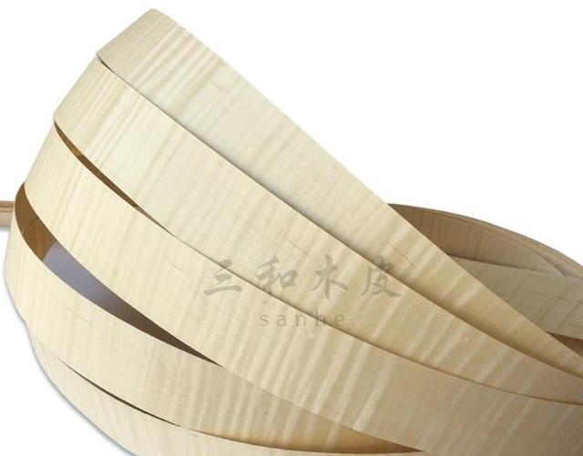 Comprimento: 2.5 Metros largura: 4 cm Maple folheado de madeira de móveis de madeira sombra borda tigre -- 2.5 metros/pcs