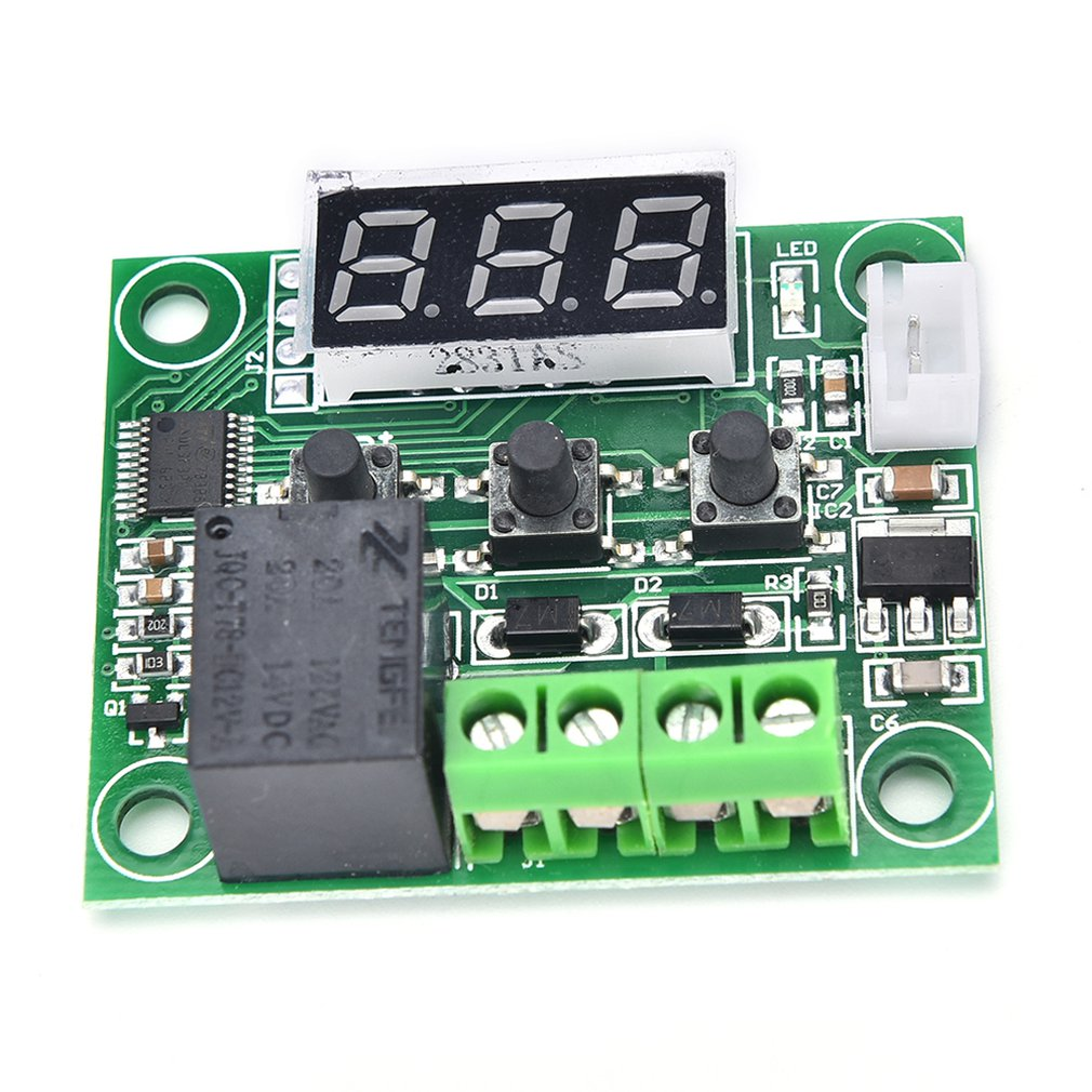 W1209 Dc 12v Red Screen Heat Great Temperature Thermostat Temperature Control Switch Thermo Thermometer Controller Xh-w1209