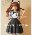 Anime Japan Girls' School Uniform Cosplay Kawaii Sweet Love Lolita Costume Dress Sailor Costume Free Shipping