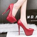 Zapatos de fiesta sapatos feminino zapatos rojos zapatos de boda zapatos mujer bomba sexy tacones altos zapatos de plataforma bombas de las mujeres tacones de zapatos X322