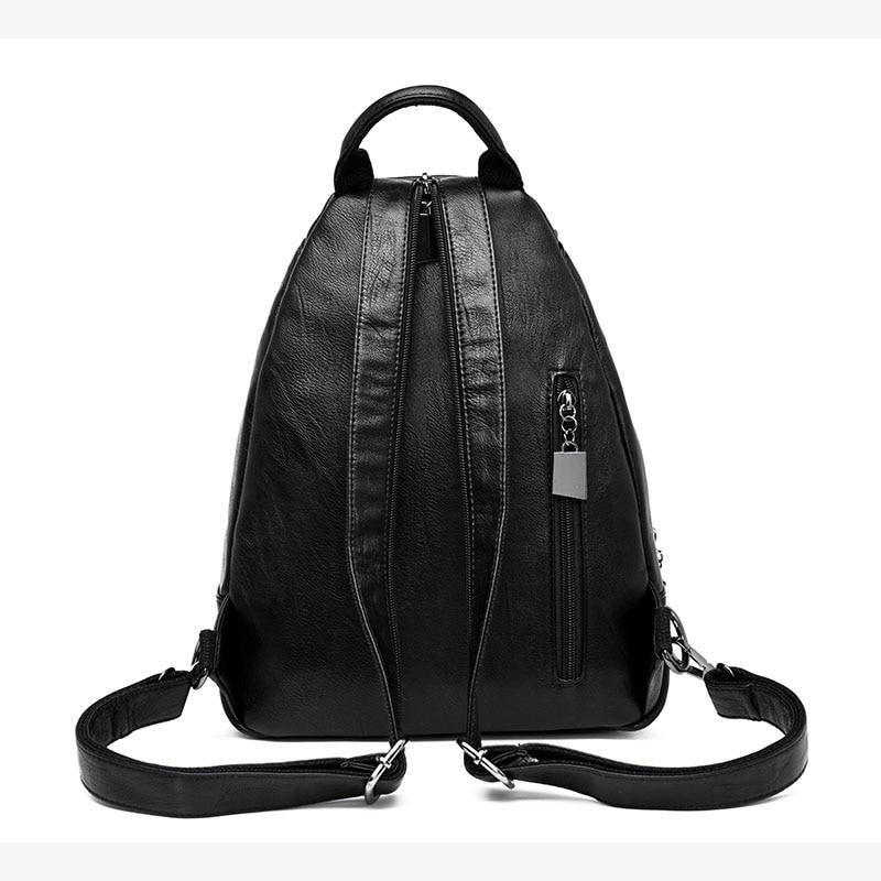 HTB1FHpTFv1TBuNjy0Fjq6yjyXXa5 Women Leather Backpacks Zipper Female Chest Bag Sac a Dos Travel Back Pack Ladies Bagpack Mochilas School Bags For Teenage Girls