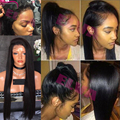 High Ponytail Full Lace Wigs With Baby Hair Silky Straight Lace Front Wig Brazilian Full Lace Human Hair Wigs With Baby Hair