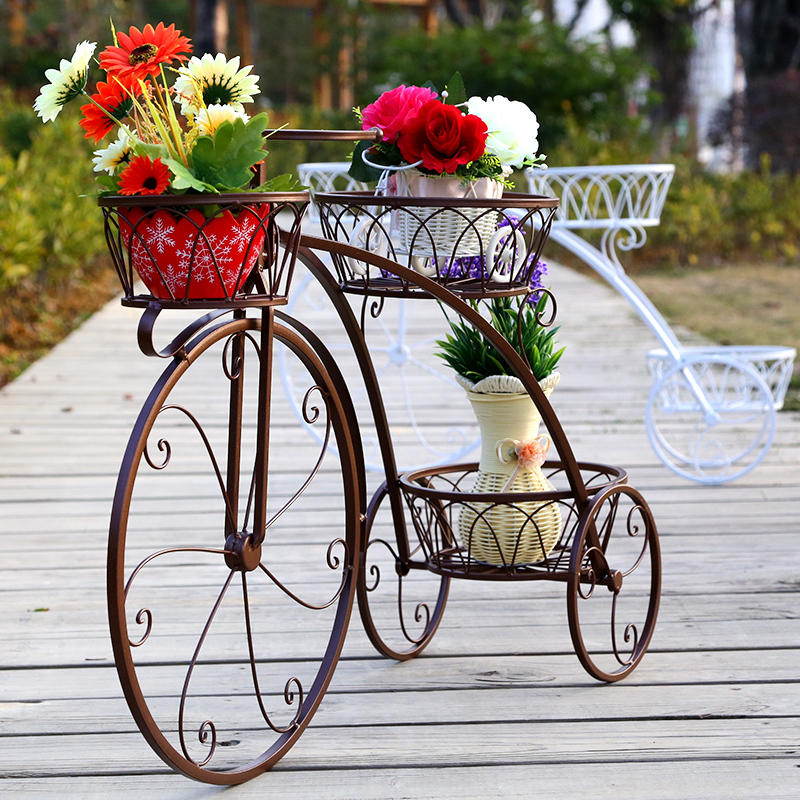 Popular metal bicycle plant stand buy cheap metal bicycle plant stand lots from china metal - Bicycle planter stand ...