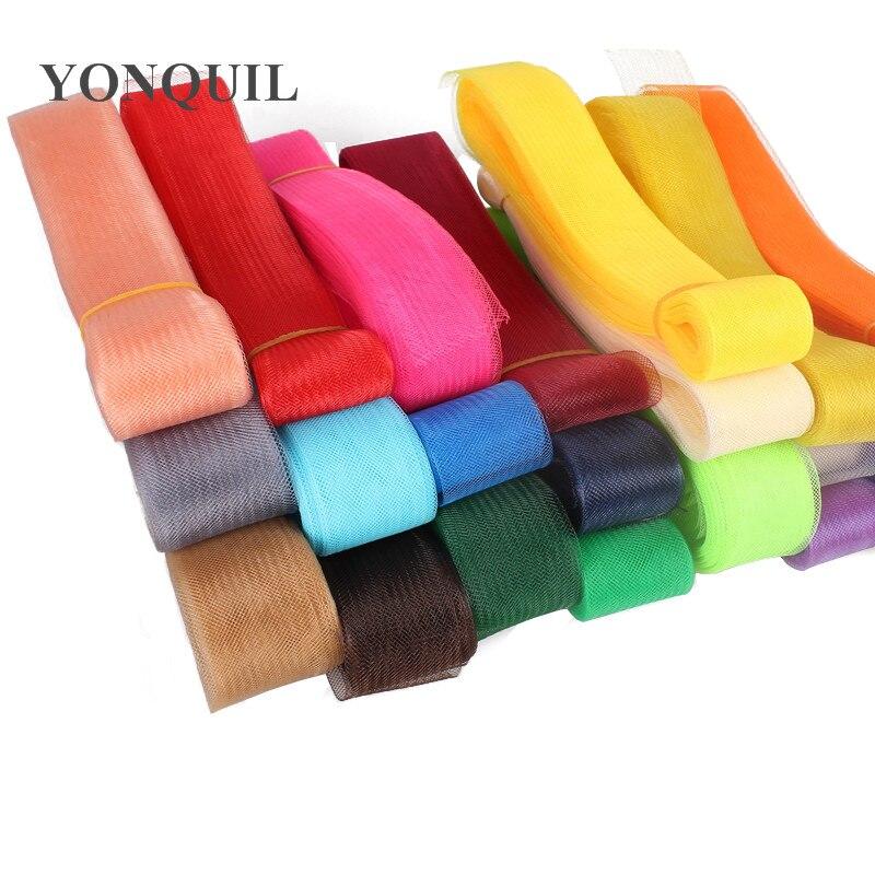 36 Colors 1.6'' /4cm Crinoline / Horsehair Material/ Hair Accessories/ Women Fascinators Craft Material ,100yards/lot
