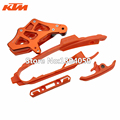 KTM Swingarm Slider With Billet Chain Guard Guide Protector EXC EXCF SX SXF XC XCF XCF-W XCW 125-530 2011- 15 Motocross Enduro