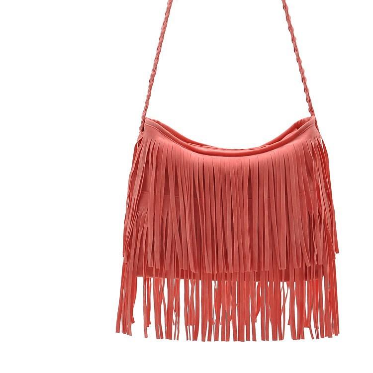 Fashion PU Leather Handbag Tassel bags Vintage Bucket Women Shoulder bag Small Ladies messenger bags Tote bolsa 2015 BH249 (4)