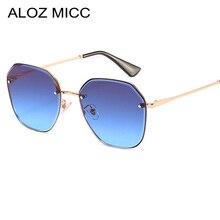 ALOZ MICC Fashion Frameless Sunglasses Women Brand Design Round Sun Glasses Female Shades Gradient Oculos Q680