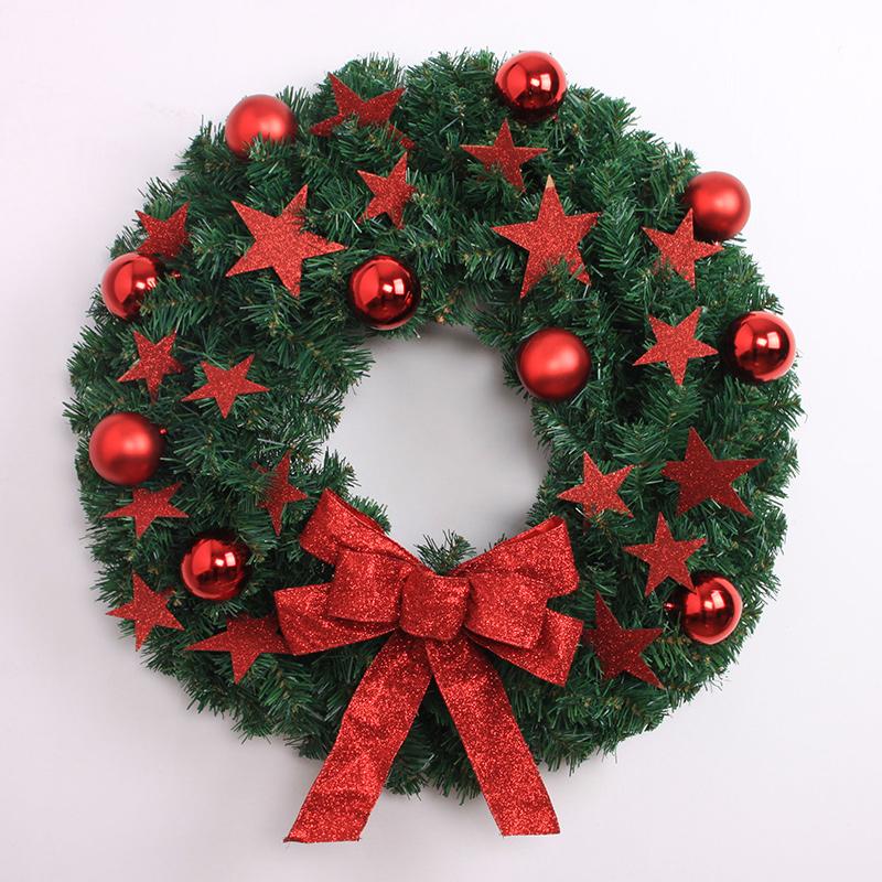 2015 nuevo navidad guirnalda 40 cm red five star adornos y decoracin de navidad guirnalda de