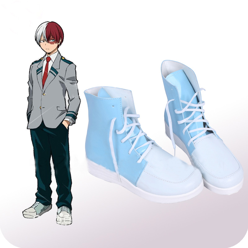 My Hero Academia Todoroki Shoto High School Cosplay Shoes Boots Men's Halloween Carnival Party Costume Accessories