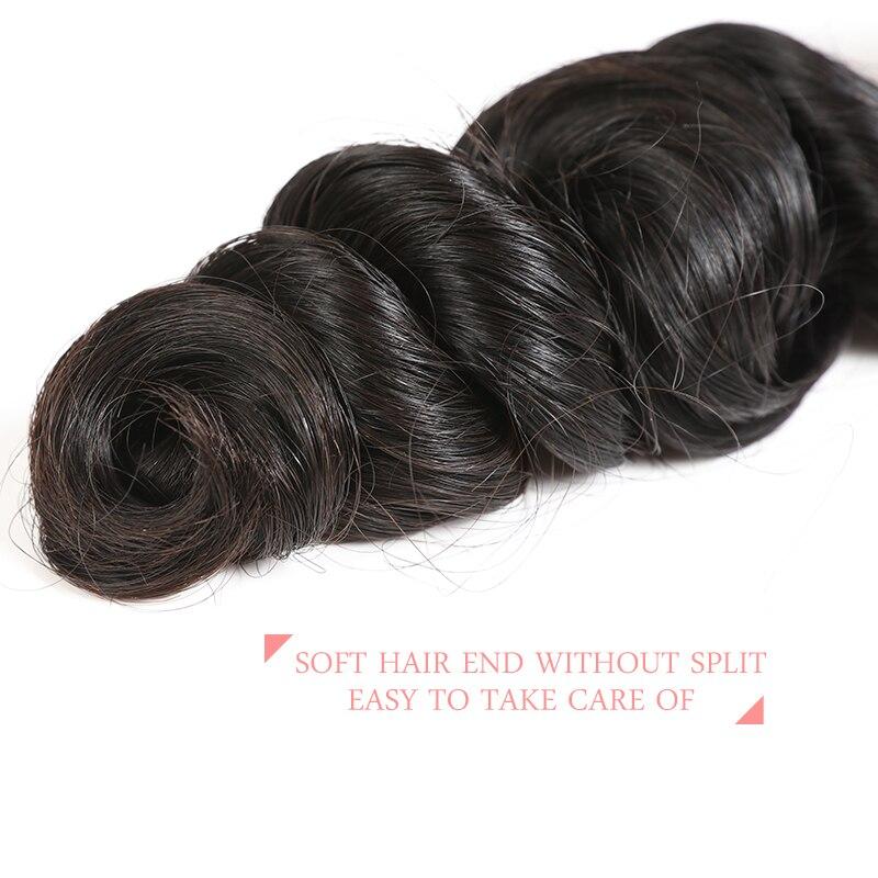 Ali Queen cheveux brésilien vague lâche 3 pièces Lot 100% vierge Extension de cheveux humains couleur naturelle cheveux armure faisceaux livraison gratuite - 5