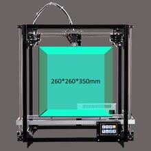 Marco Del Metal 3D Impresora doble Extrusora Kit Gran Área de Impresión de 260*260*350mm Impresora 3D Con Calefacción cama de 3.2 Pulgadas de Pantalla Táctil