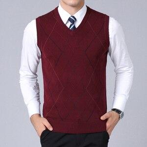 Image 4 - Pull de marque pour hommes, gilet en tricot, coupe cintrée, Style coréen, à la mode, automne 2020 pour hommes, nouvelle collection décontracté