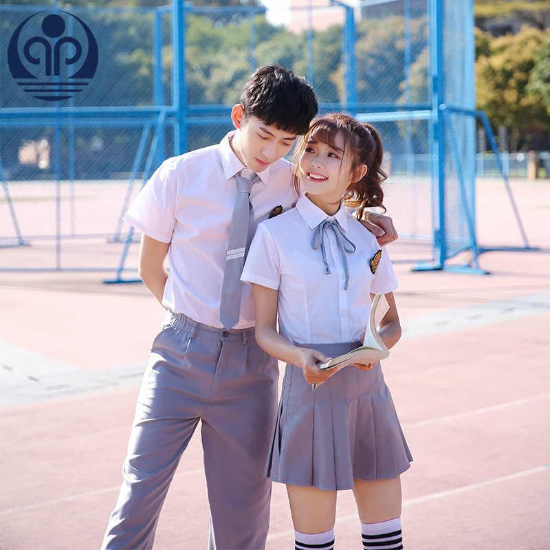 Школьная форма матрос короткий рукав Встроенная Сексуальная для девочек, большой размер японский Косплэй аниме одежда студентов хора D-0575