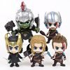 Thor 3 Ragnarok Thor Loki Gladiator Hulk Bobble Head Doll PVC Figure Collectible Model Toy