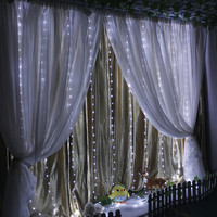8 Modes 300 Icicle IP67 Window Curtain Lights Outdoor LED String Lights Christmas Light String Home Wall Bedroom Decorations