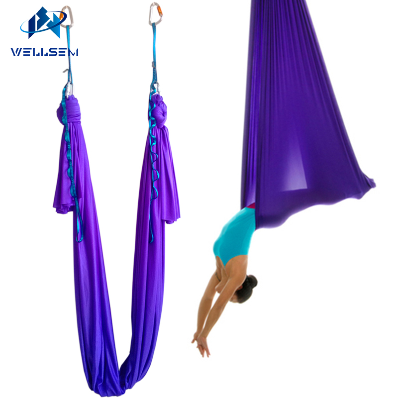 daisy Chain+carabiner+ring Mount Fitness & Body Building 6meter Full Set Aerial Yoga Hammock Swing Trapeze Antigravity Inversion Aerial Traction Device