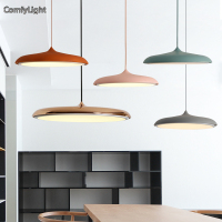 Nordic Hanging Lamp Gold Copper Color Pendant Light Lampshade Luminaire LED Bedroom Kitchen Island Shop Window