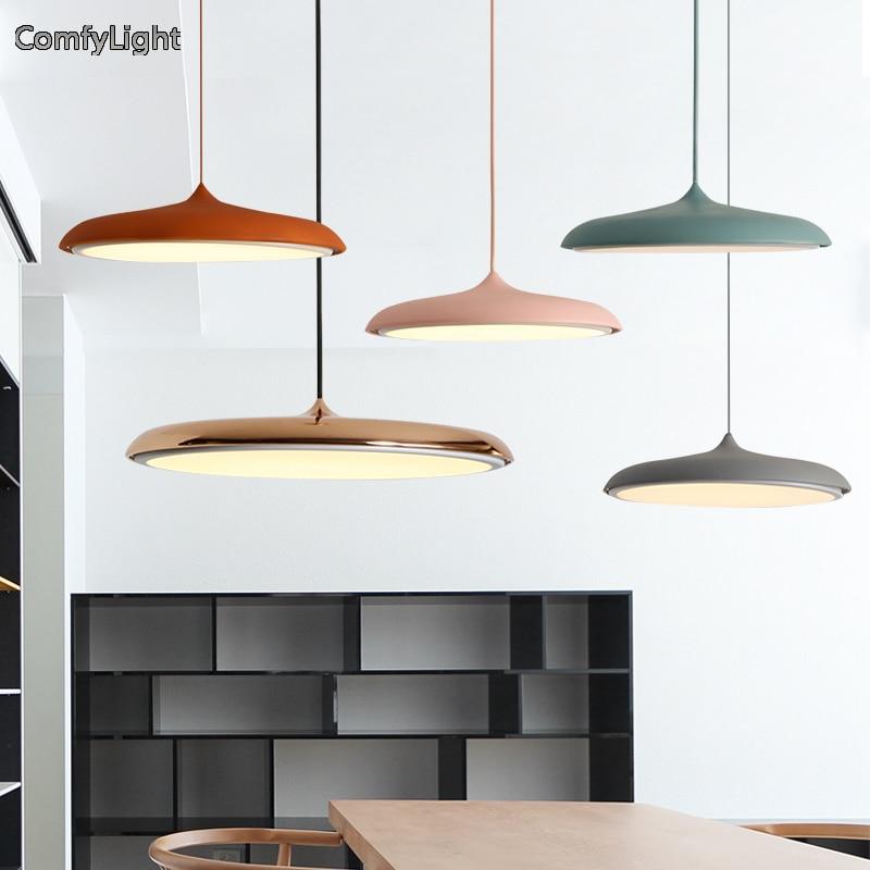 Nordique Lampe Suspendue or/cuivre couleur pendentif lumière Abat-Jour Luminaire LED Chambre/îlot De Cuisine/boutique fenêtre Maison éclairage