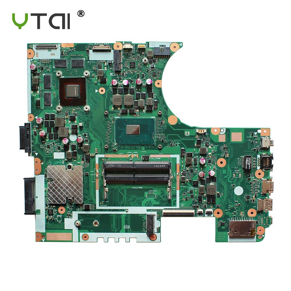 YTAI Original For ASUS N752VX REV 2.0 I7-6700HQ laptop notebook motherboard DDR4 GT950M ytai original for asus ux32a ux32v ux32vd rev 2 4 i5 3317u laptop notebook motherboard hm76 60 ny0mb1200 a02 ddr3 2g