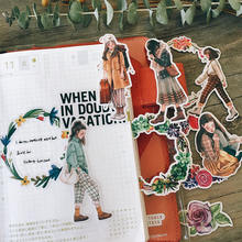 7 листов kawaii manga наклейка для девочек венок путешествий