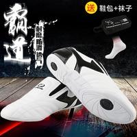 Gingpai Taekwondo Shoes PU Leather Sport Shoes Training Sneaker Fitness Body Building Adult Male Female Kids GYM Shoes TKD Shoes