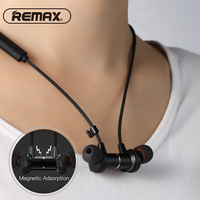 Remax Wireless Bluetooth Earphone Magnetic HD Stereo Bass Neckband Headset for Samsung Galaxy S10 S9 S8 S7 S6 Plus Note7 A7 2018