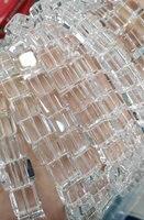 2 السواحل 6 8 10 12 ملليمتر aa الصف الطبيعية كلير وايت روك الكوارتز مربع مكعب مكعب suqare الأبيض الأرجواني الخرز