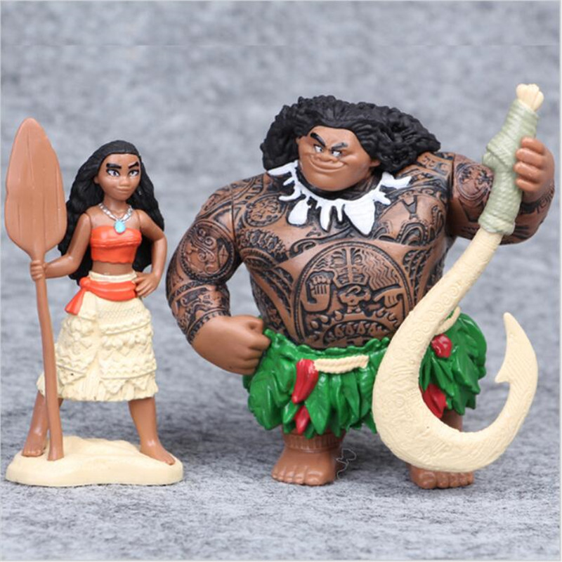 Moana princess toy 6 pcs set fairy tale vaiana boneca cosplay adventure model cartoon movie moana doll Action Figure toy gift in Action Toy Figures from Toys Hobbies