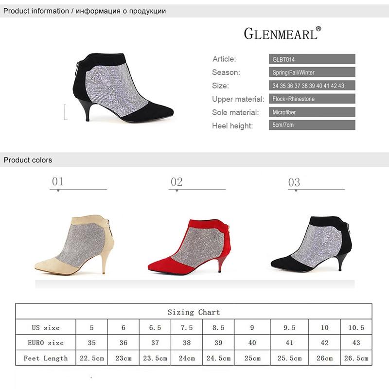 Zapatos de mujer de invierno Botines Tacones altos Marca Rhinestone - Zapatos de mujer - foto 6