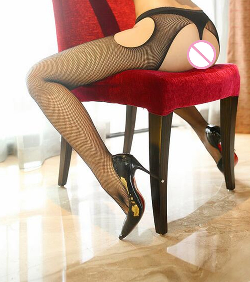 2019 Sexy Stockings Female Erotic Pantyhose Sexy Lingerie Tights Hot Sheer Thigh High Black Mesh Stockings 5 Color