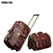 """Travel tale 1"""" дюймов Мужская Ретро ручной клади кожаный саквояж КАБИНЫ Ручной для бизнеса"""