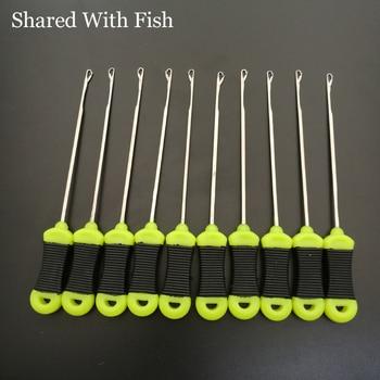 Compartido con 10 uds/lote de pescado, aguja de carga oilie, equipo para el cabello, aguja para cebar, herramienta de carga, accesorios de pesca de carpa, herramientas al por mayor