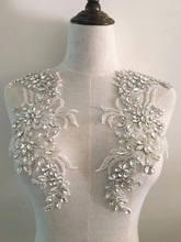 new crystal bridal applique ,, Rhinestone sash applique, rhinestone for headpieces