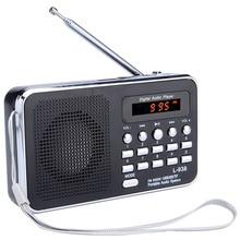 L 938 Portable Digital FM Radio TF Slot USB Mini Speaker For the Elderly People Free Shipping 12002014