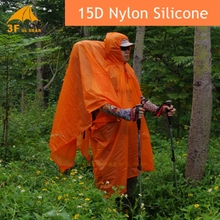 3F Ul Single Person Ultralight Hiking Cycling Raincoat Outdoor Awning Camping Mini Tarp Sun Shelter 15D Silicone 210T Taffeta