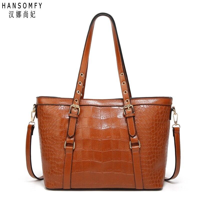 100% en cuir Véritable Femmes sacs à main 2018 Nouveau sac Chaud L'europe épaule paquet diagonal de mode crocodile motif portable sac