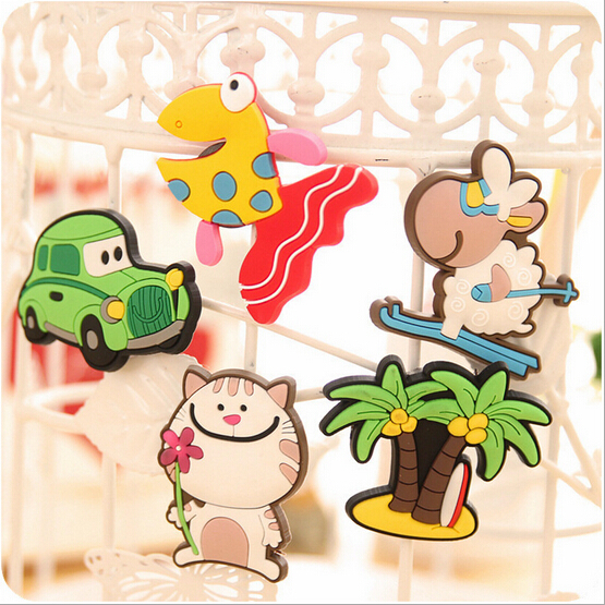Free Shipping 60 PCS Cartoon Funny Baby Toy silicone Fridge Magnet Refrigerator Magnets Gift ...