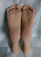 Free Shipping!26cm 44#Silicone male fake feet model,Inner Bone Inside,Toe Move Freely,mannequin for shoes