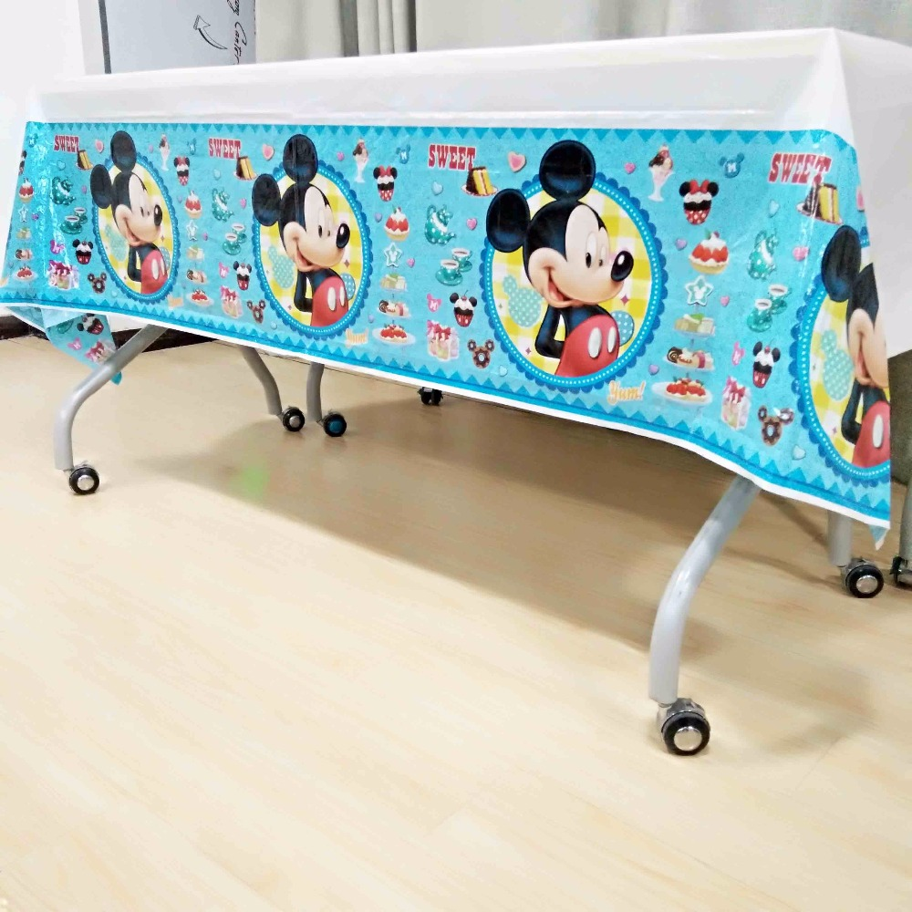 mickey mouse tablecloth kids birthday party decoration baby shower tablecover cartoon th ...