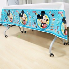 mickey mouse tablecloth kids birthday party decoration baby shower tablecover cartoon theme tableware festival favors