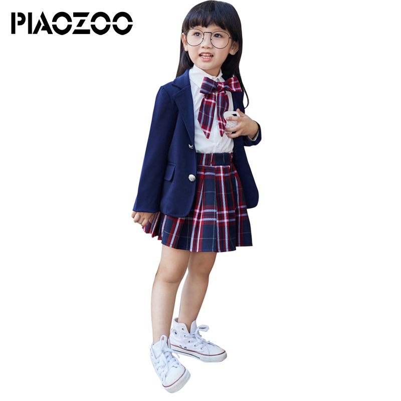 Students clothes long-sleeved shirts plaid dress girl suit coat japanese school uniform toddler girls back to school outfits P20 midland manchester